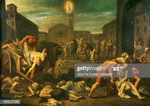 The plague in Rome. Italy, 17th century.